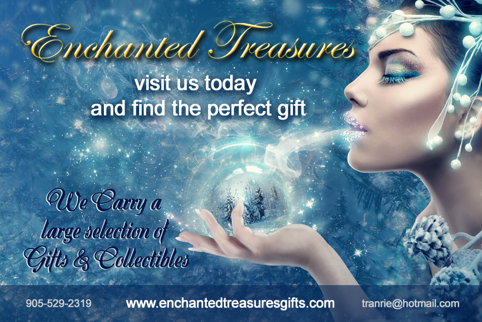 enchanted treasures Christmas card